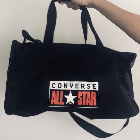 a6e96780f731 Black Converse All Star Duffle Bag🖤💧 No Flaws✨ Free - Depop