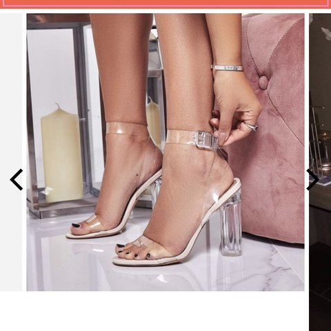 538eff65c95 EGO Ariana Strappy Sandal In Clear Perspex BRAND NEW not 5 - Depop