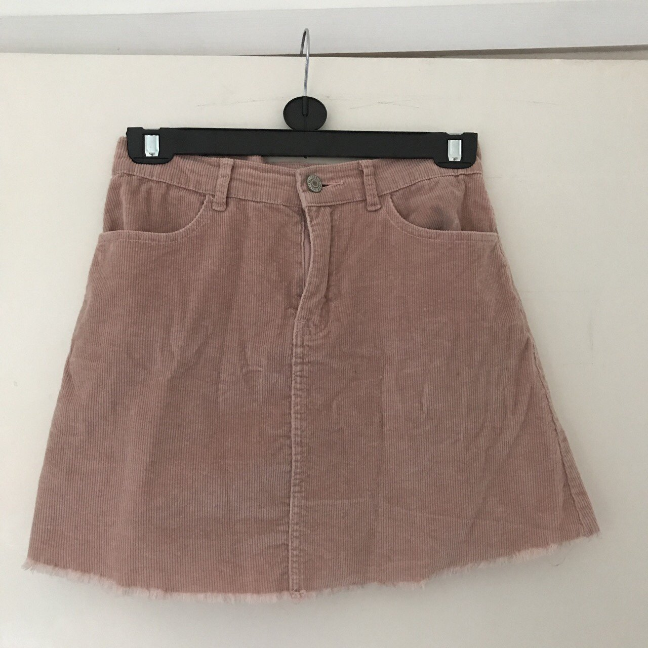 09d617a8c4 @iizzybrown. last year. Broadstairs, United Kingdom. Brandy Melville blush pink  corduroy skirt. Size 6-8