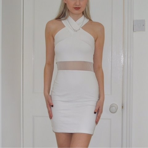 940788d67019 @hattieallan. 15 hours ago. Middlesbrough, United Kingdom. Two piece feel  white bodycon dress, super classy and ...