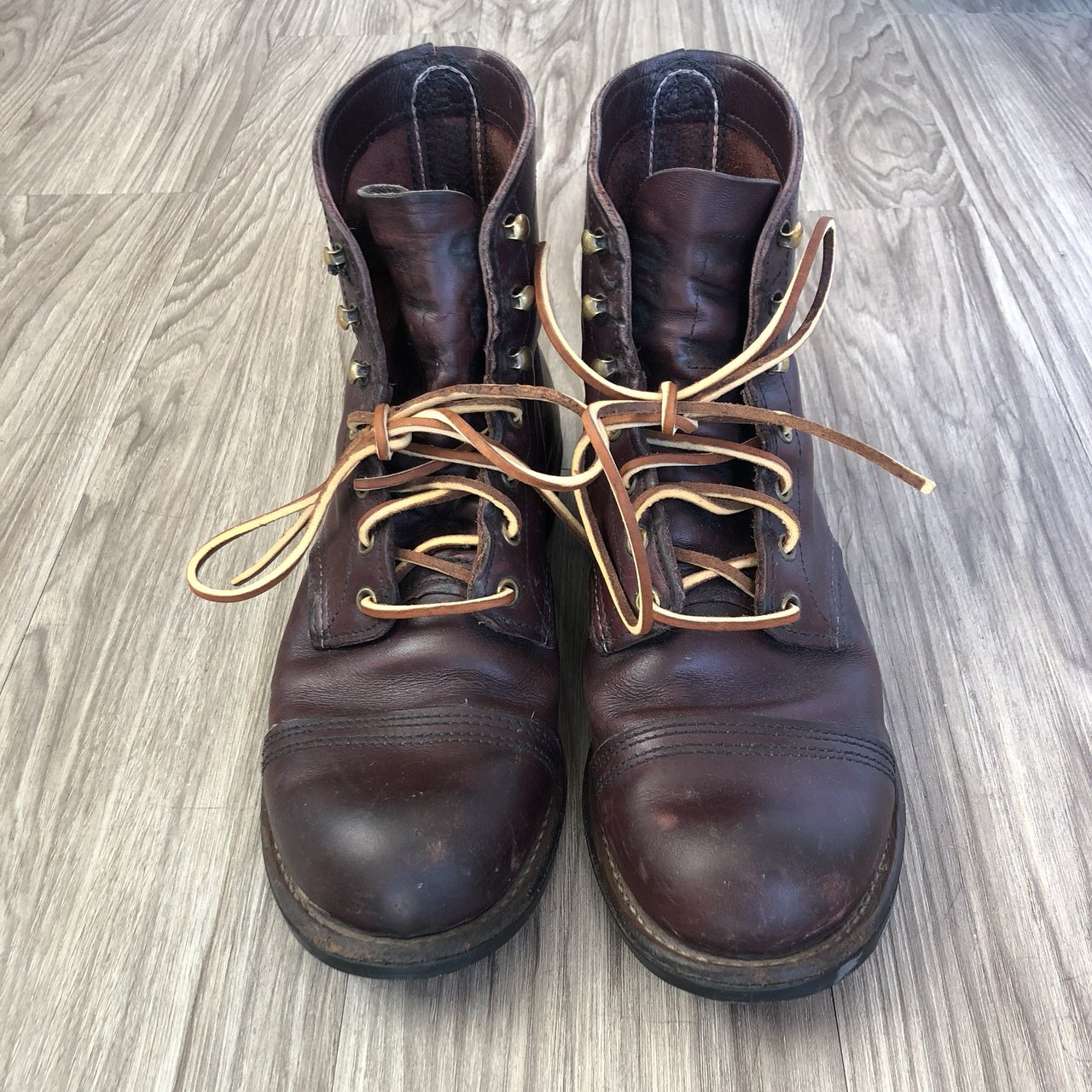 Redwing Iron Rangers Usa Size 85 Ox Blood Leather Comes Depop