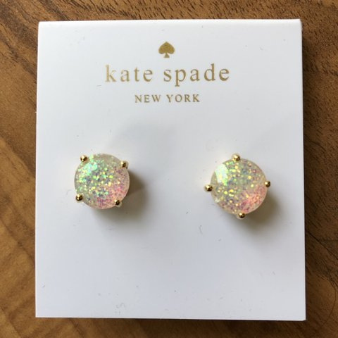 970101948 @melissamarkay. 10 months ago. Minneapolis, United States. Kate Spade  Confetti Glitter Earrings.