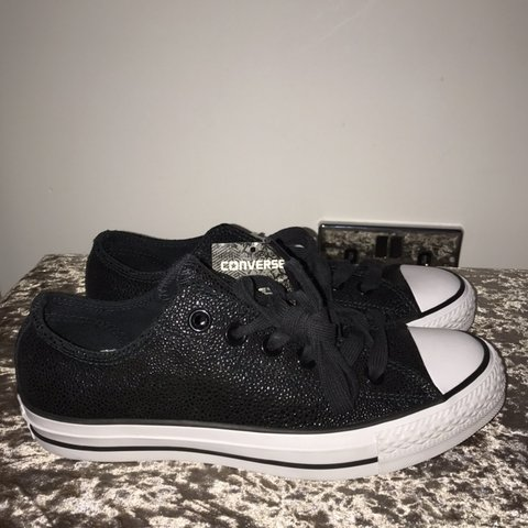 d023a16647b8 New Black Sparkly Gem Converse Size 5 brand new with tags - Depop