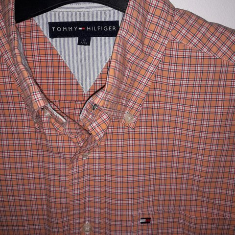 6a67ff53 @tl_sells. 8 hours ago. United Kingdom. 🀄TOMMY HILFIGER🃏 🍺Vintage Tommy  Hilfiger shirt with awesome orange check ...