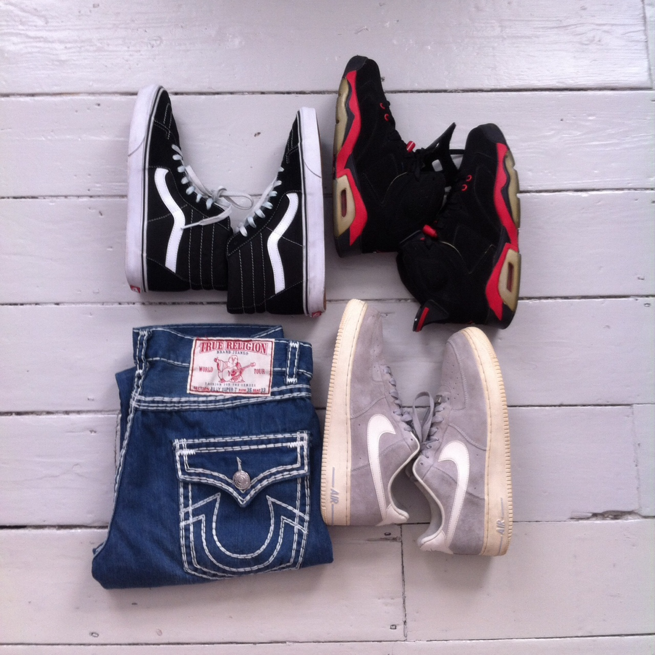 excellent quality united kingdom look good shoes sale Incoming true Religion billy super T,, vans black... - Depop