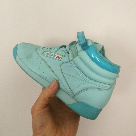 29afa8057ace Reebok classic pastel blue hi tops🎊🎊 in great condition