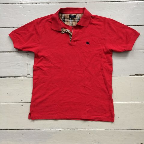 0638a3f9 @weargarsonclothing. 8 days ago. London, United Kingdom. Burberry London  red polo ...