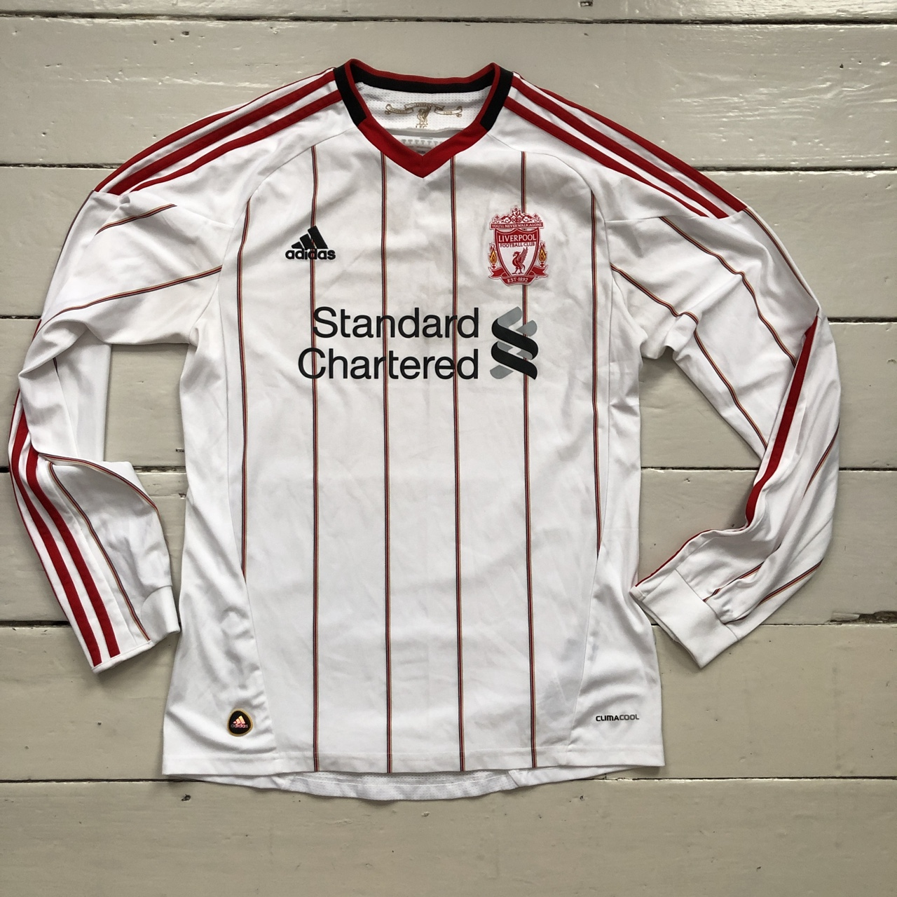 promo code 2db3c b29c8 Adidas Standard chartered Liverpool FC long sleeved ...