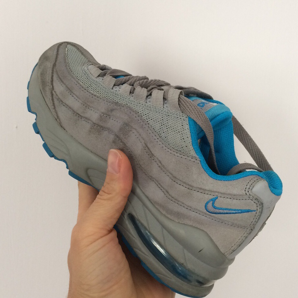 Nike Air Max 95 Junior , grey suede with blue...