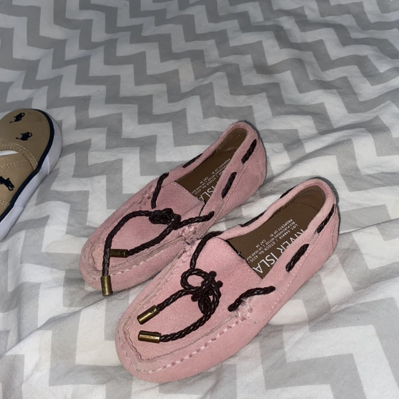 River island infant loafers pink