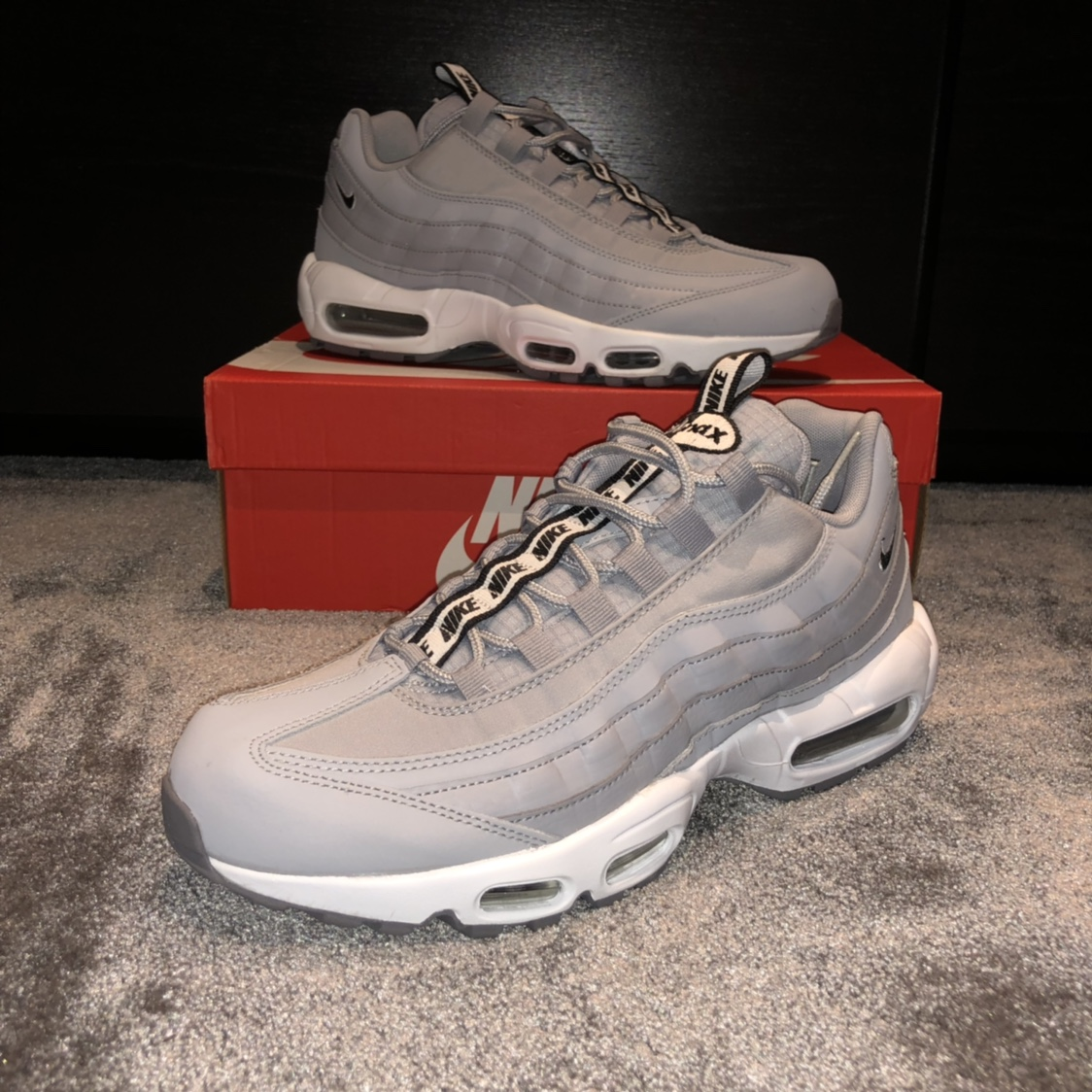 Nike air max 95 taped , Wolf grey & white , Size 9...