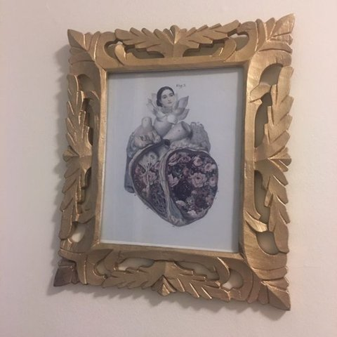 Gold Laser Cut Wood Frame Wood Sturdy And Well Made With Depop