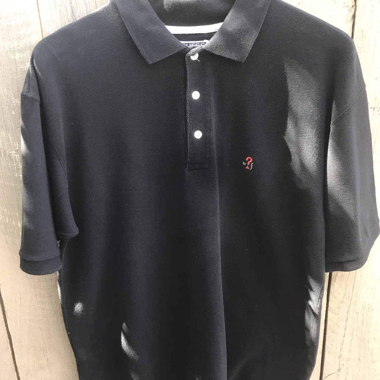 bece68891 @michaelsss. 10 months ago. Burbank, United States. Vintage 90s Guess  Question Mark Polo T Shirt