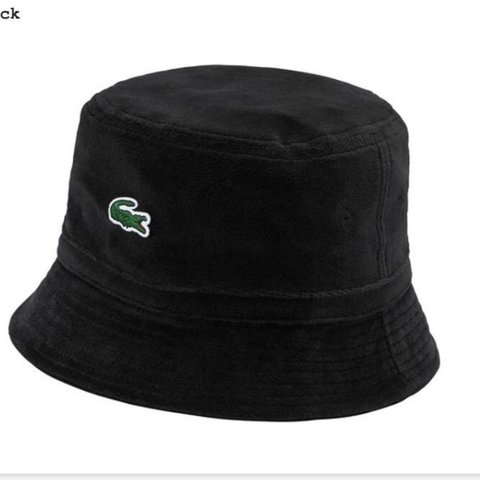0f46676bb WTS supreme x Lacoste bucket hat black Msg for any offers ! - Depop