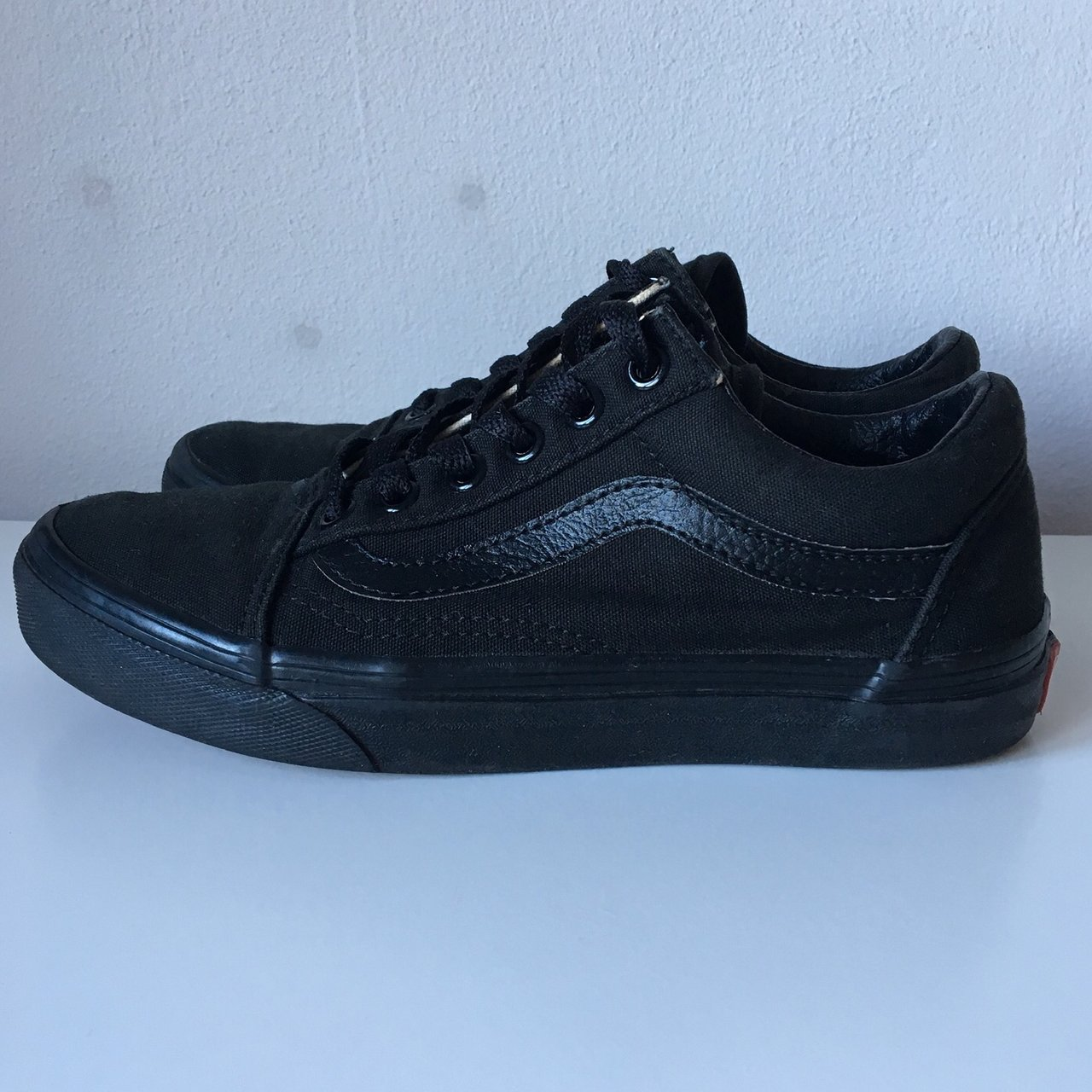 Full black old skool vans Size 3 Great condition 00b83318e