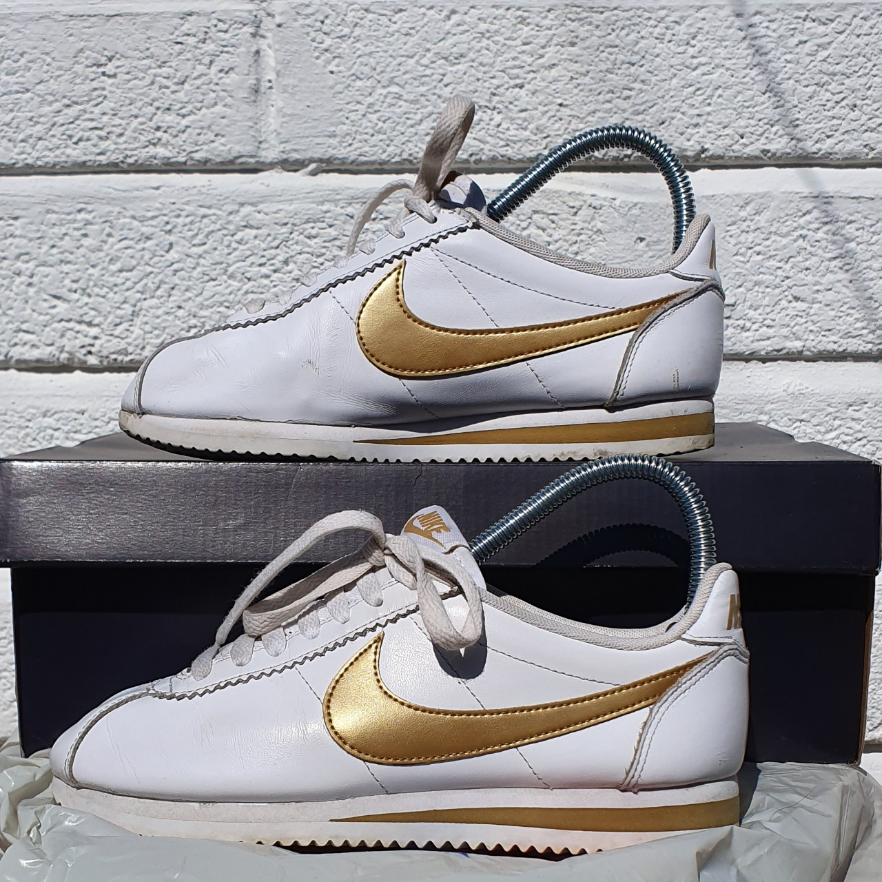 Nike Cortez leather trainers in white