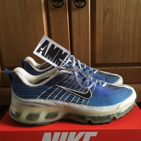 0cd82dcd4a9c Nike Air Max 360 OG Varsity Royal Blue Black White Metallic - Depop