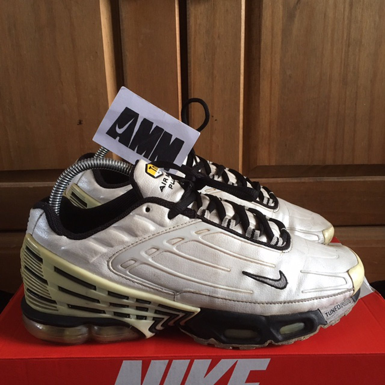 sneakers for cheap 44433 c42b5 Nike Air Max Plus TN 3 White Black Size  7uk Condition  box  - Depop