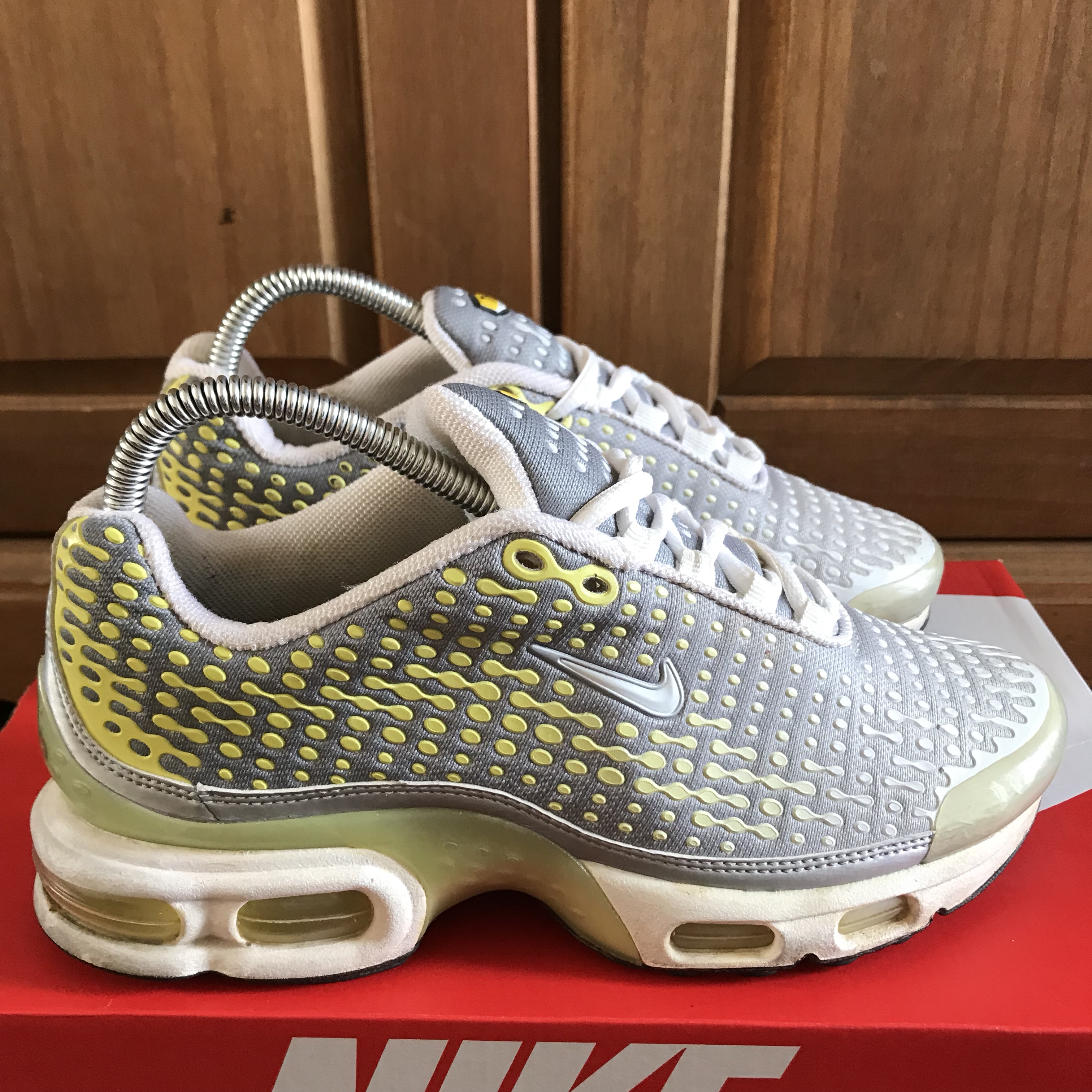 detailed look f7965 a2181 Nike Air Max Plus TN7 Grey/Yellow Size:... - Depop