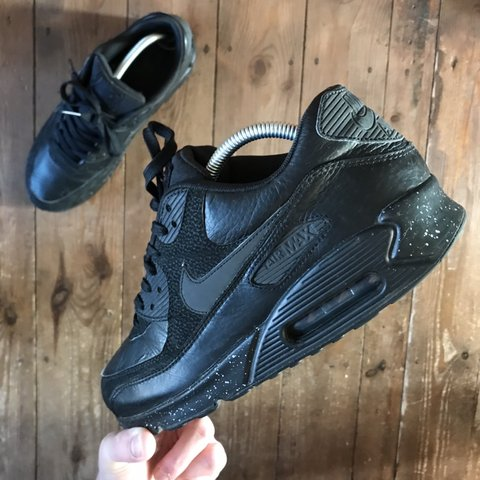 b41fabb6da4ec Nike Air Max 90 PRM Black Size  8.5uk Condition  7 10 OG a - Depop