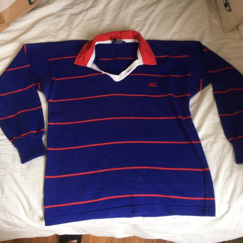 ab157688d06 @nicolebaddeley. 8 months ago. Bournemouth, United Kingdom. Vintage  Canterbury striped rugby shirt. No signs of wear, excellent condition.