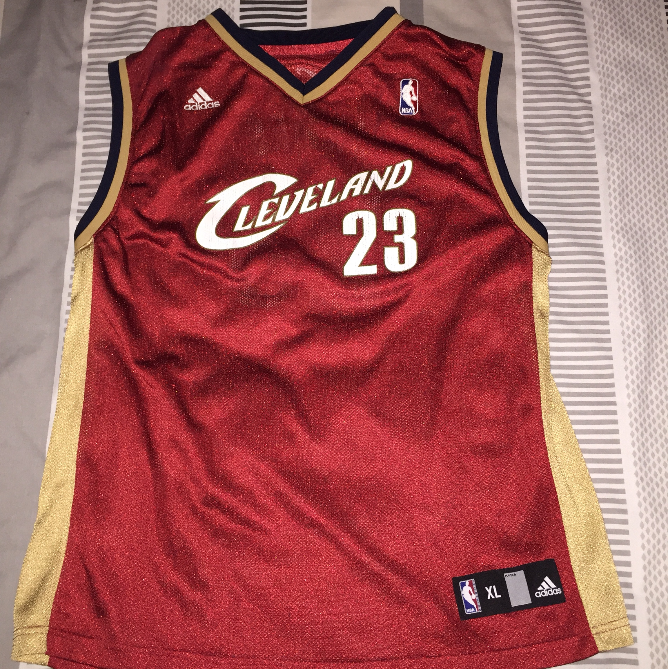 timeless design 76aa8 3cef2 Retro Adidas Cleveland Cavaliers jersey with LeBron... - Depop