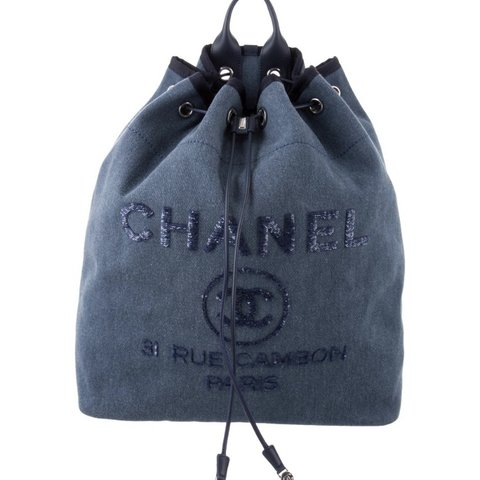 146afe5f9 Chanel deauville backpack—- like new! From the 2017 Act I - Depop