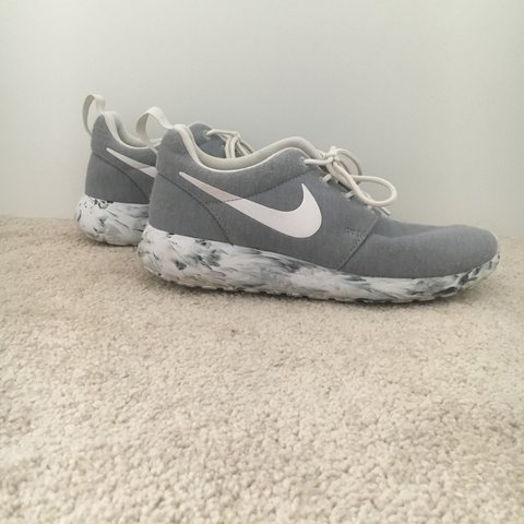 f81ec224cc2d Grey Marbled Nike Roshes I got these shoes two years ago but - Depop