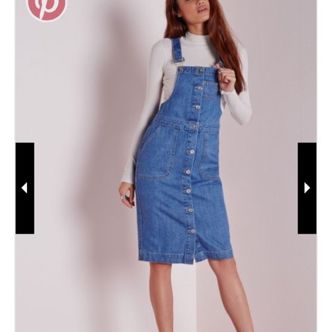 21826f47ac Missguided denim midi dungaree dress size 8. Only worn once. - Depop