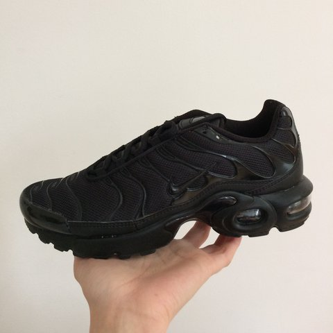 EU 38.5 Nike Air Max Plus Tn - triple black Unworn! - Depop 4811a2cbe