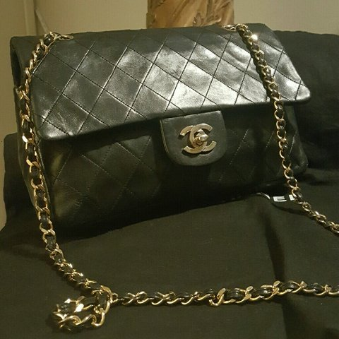 ac603a7af9ac 🐾 Chanel vintage 80's quilted medium double flap with cc / - Depop