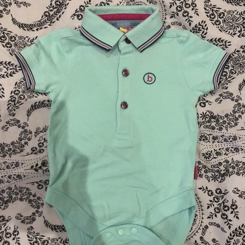 3ff65bcab Ted baker Turquoise baby boy polo bodysuit. 0-3 month top. - Depop