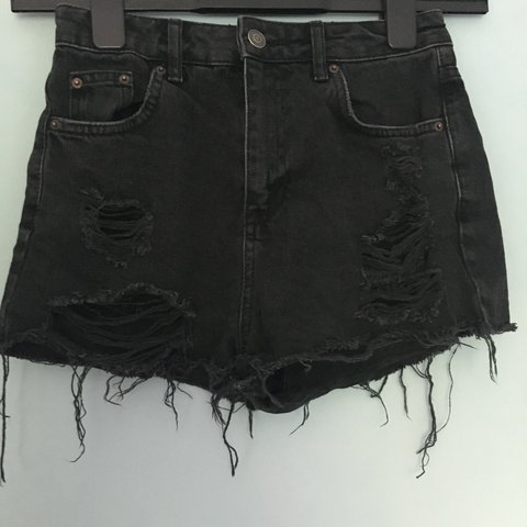 d6a3ad5613 @maisiecronshey. 2 years ago. Bicton Heath, United Kingdom. Topshop Black Ripped  Mom Shorts.