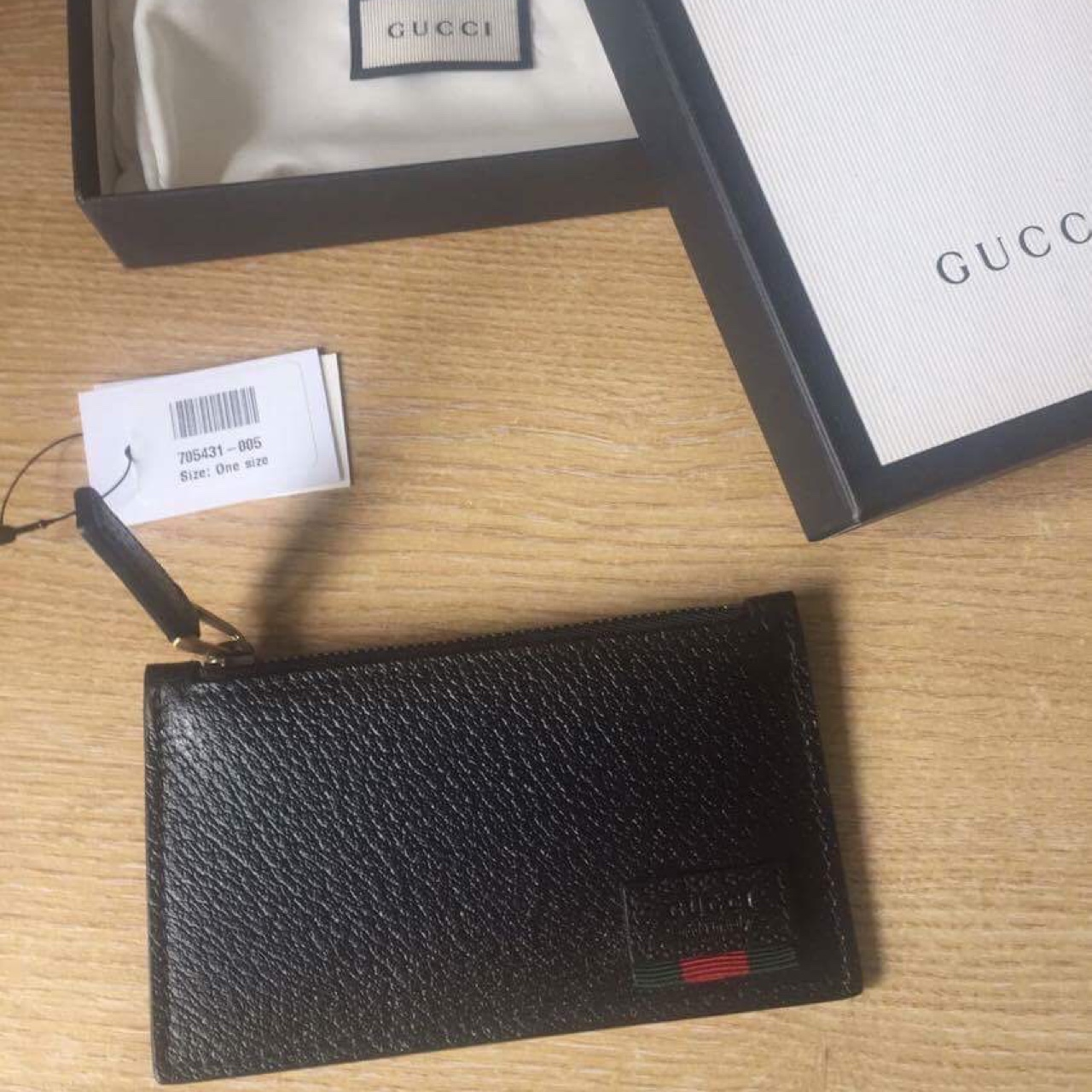 547d8769f6 GUCCI LEATHER CARD CASE WITH WEB • LAST DROP • A... - Depop