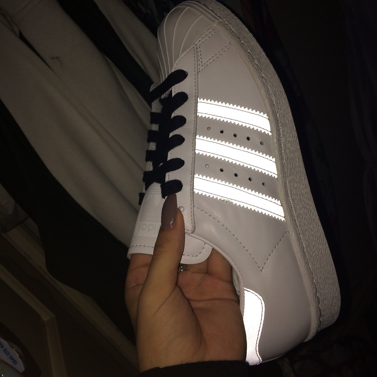 3M REFLECTIVE ADIDAS SUPERSTARS. Personalised shoe made for - Depop 6780379c9