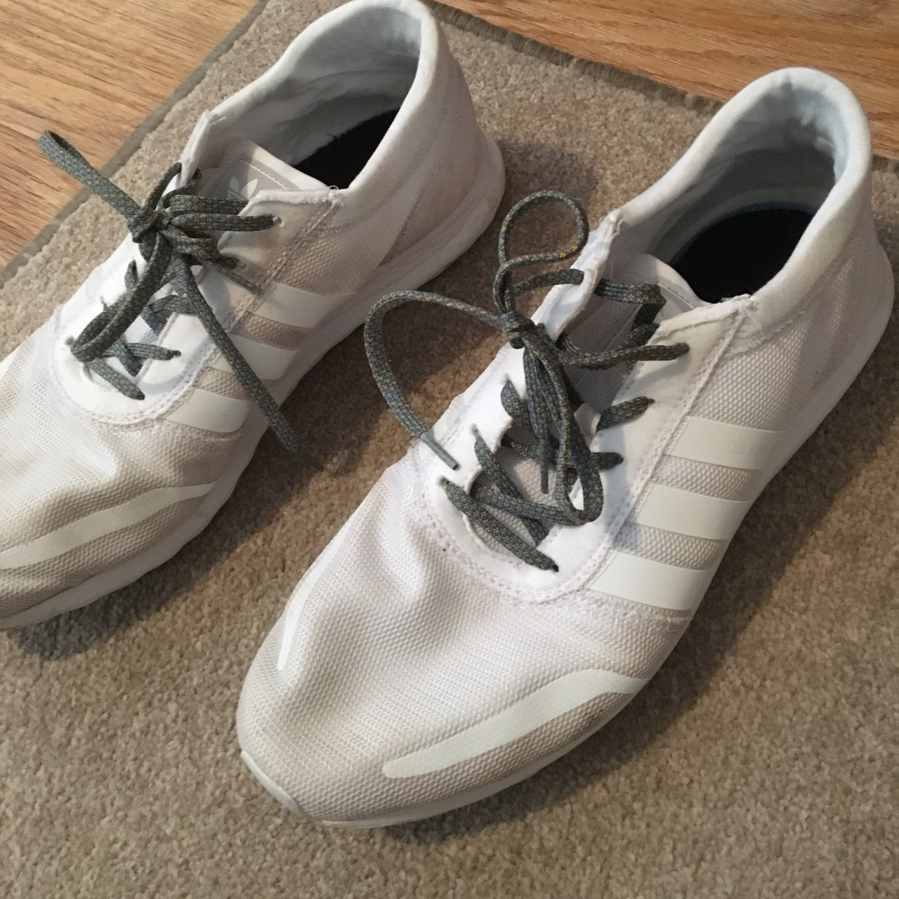 d4de75a72 Adidas Los Angeles Size 12 White. Selling because I don t me - Depop