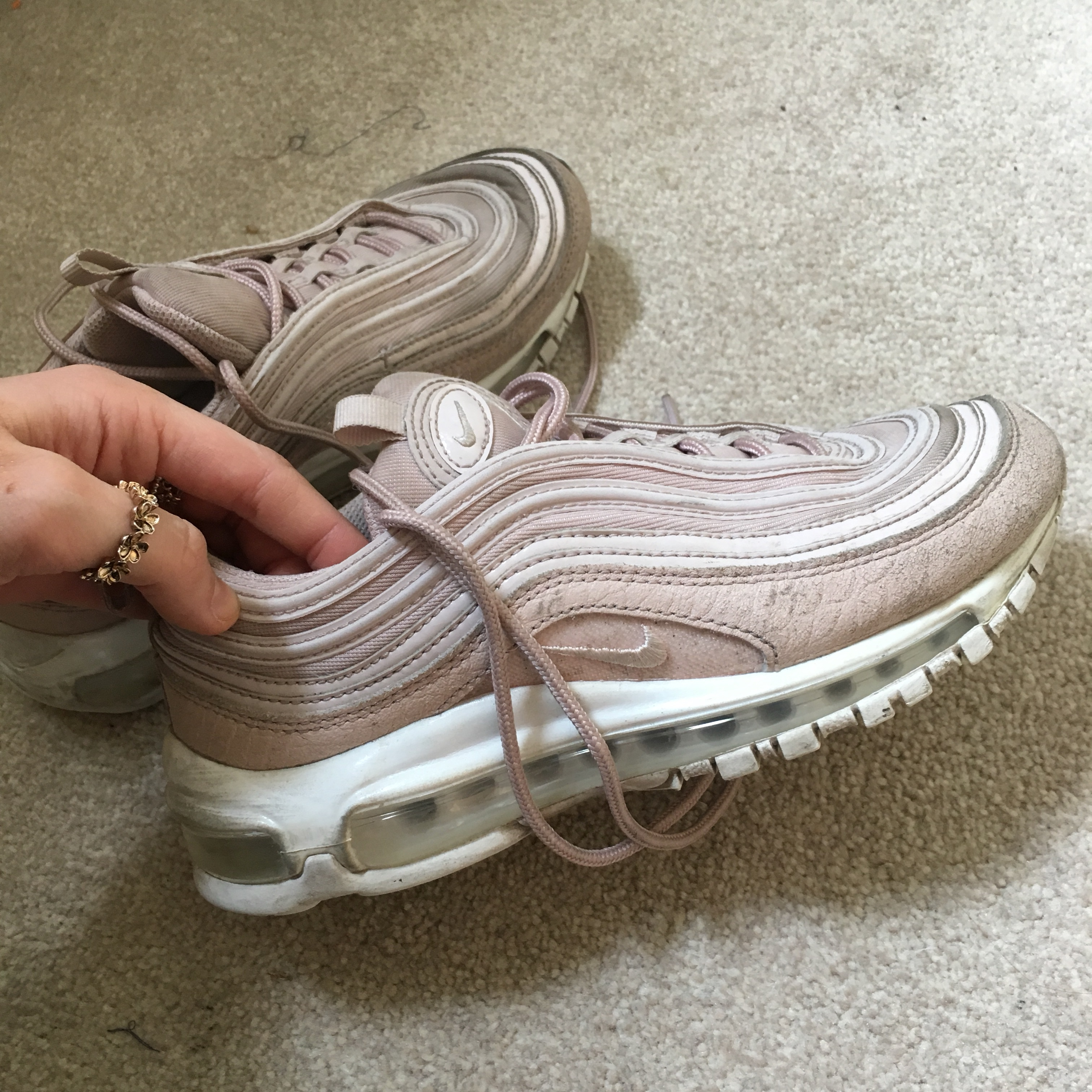 new concept 32793 02563 *RESERVED*Nike Air max 97 silt red (light pink/ nude... - Depop