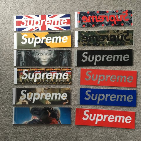 Dommm999 Last Year London United Kingdom Supreme Box Logo Sticker Collection