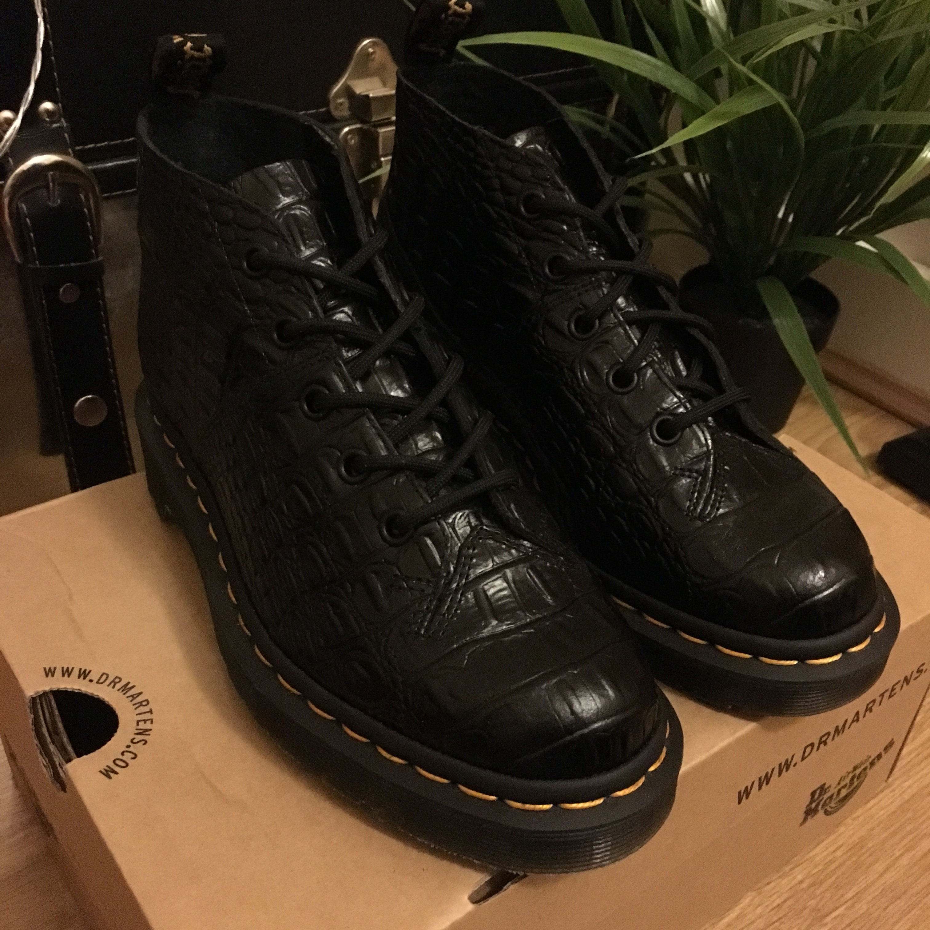 Brand new never worn Dr Martens Church Croc Boots