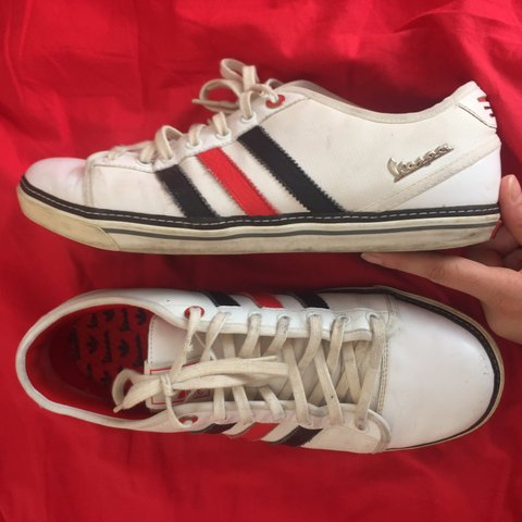 846385287df ADIDAS VESPA SHOES ~ In worn condition  both shoes have on 6 - Depop