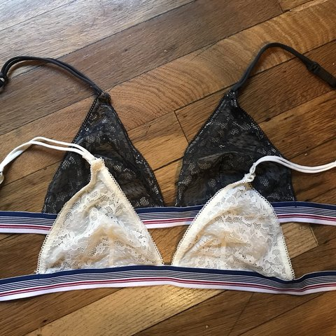 6db17a77e79b3 2 for 1 Forever 21 bralettes - Triangle bras with lace over - Depop
