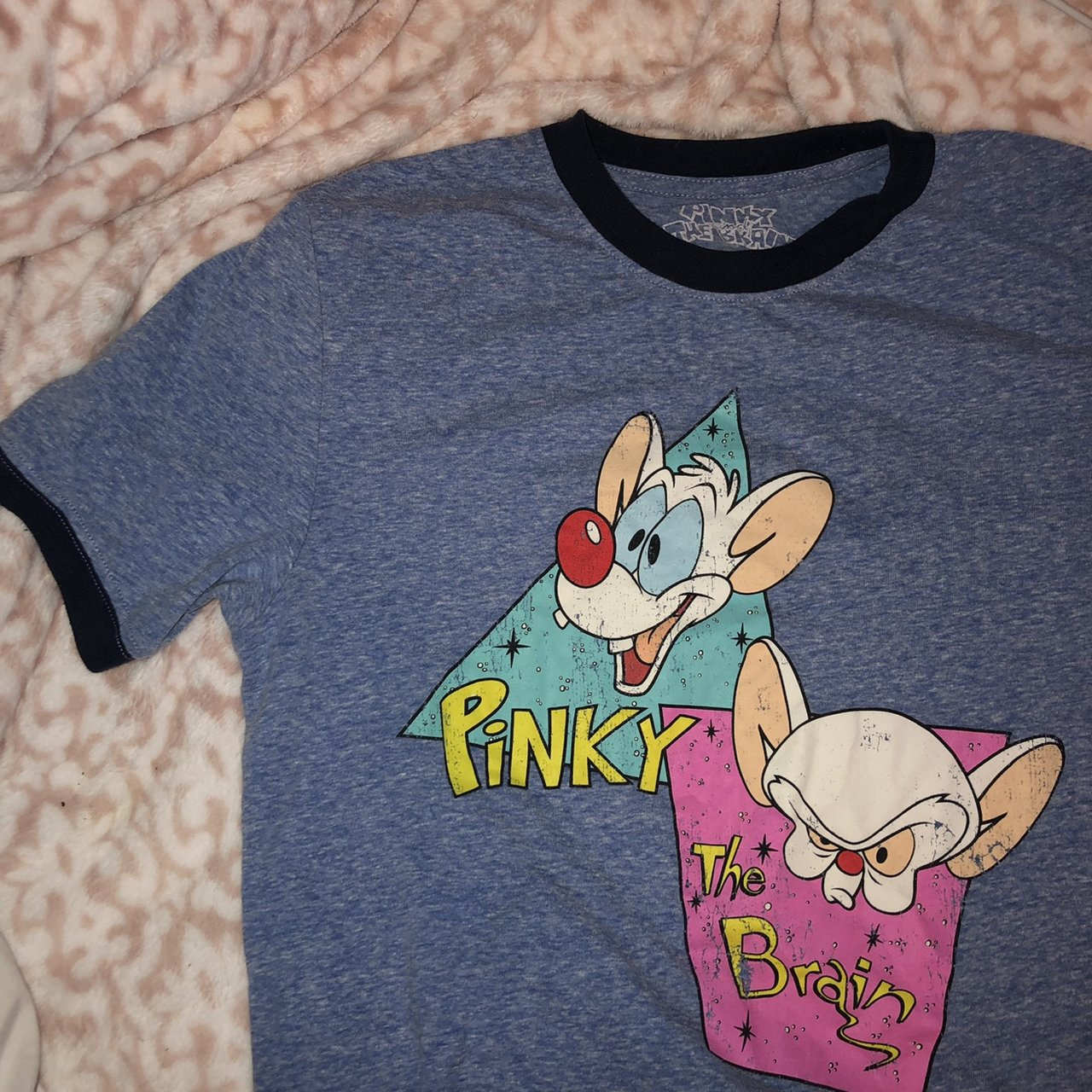 b655092bd85884 Shoptagr | Pinky And The Brain Ringer Shirt Size S, I Normally Dont ...