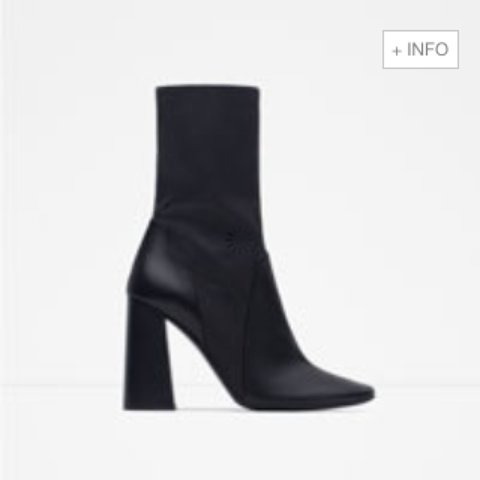 025bc72f4055  sa 1. 3 years ago. United Kingdom. WANTED ZARA LEATHER HIGH HEEL ANKLE  BOOTS ...