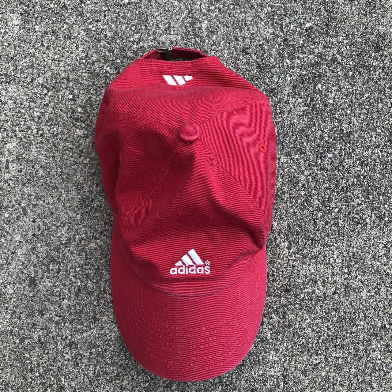 b601ee29622a9 Chalky red adidas dad hat. Great condition. Strap is One is - Depop