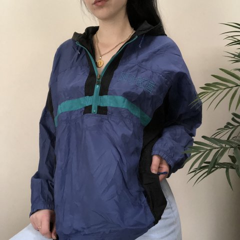 b8cd00ccc5 Woooow! Vintage OG Nike color block half zip windbreaker and - Depop