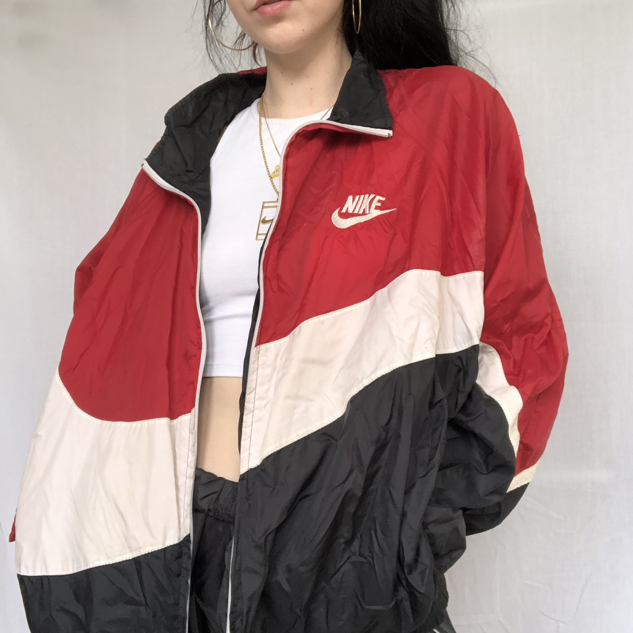Vintage Nike red, black and white