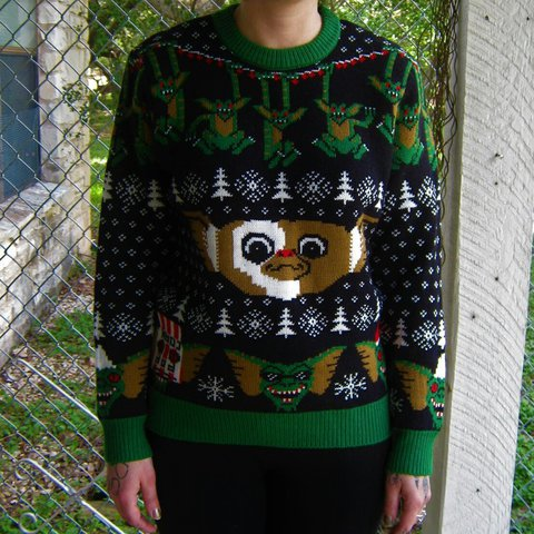 0ae26bd6 Gremlins Xmas sweater. The cutest ugly Christmas sweater is - Depop