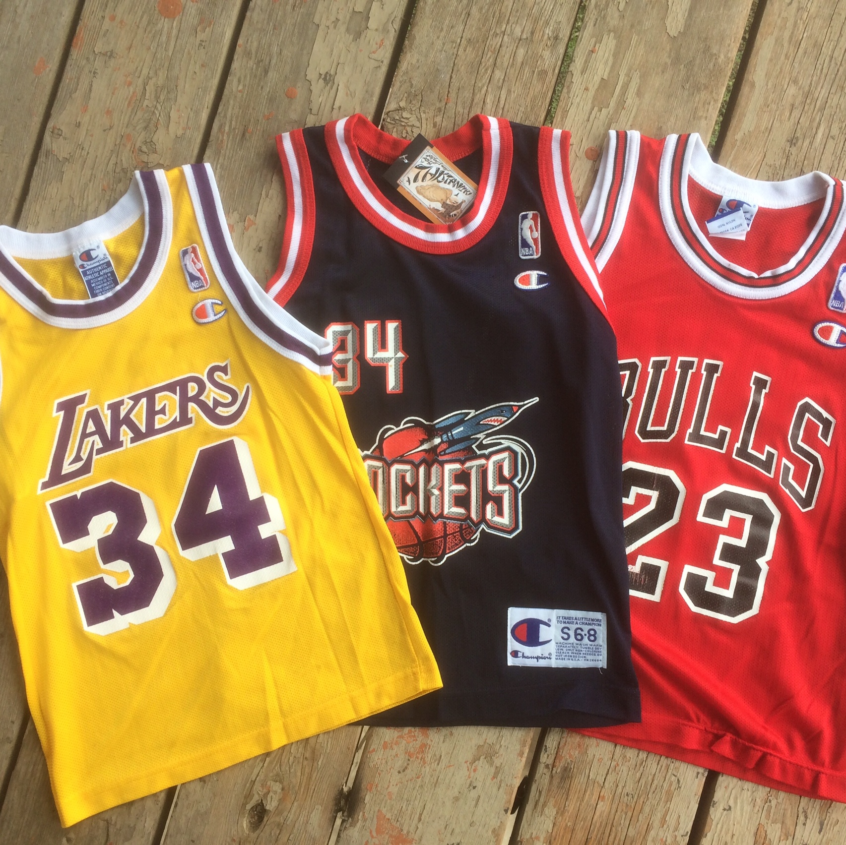 new concept 63cff 070b0 3 XS NBA Champion Jerseys All Good Condition Except ...