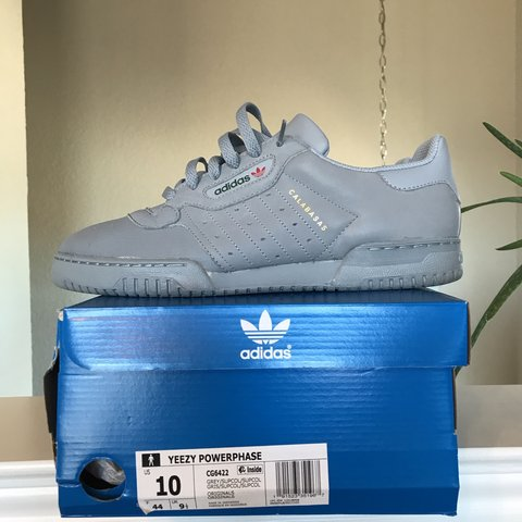 25d892af1a4 Yeezy Powerphase. Size 10(true to size). Color  Grey. Worn. - Depop