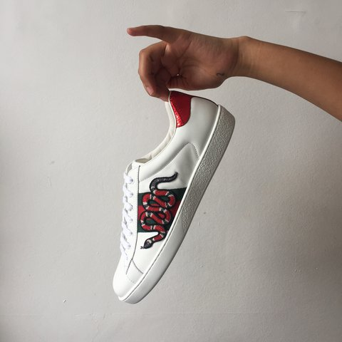 2e155d12247 Gucci Ace Snake Embroidered Sneaker London  Gucci  Snake - Depop